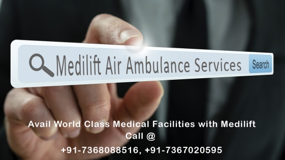 medilift air ambulance services in Jamshedpur