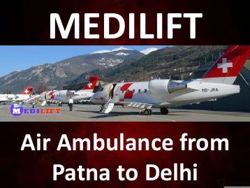 Air Ambulance from Patna to Delhi