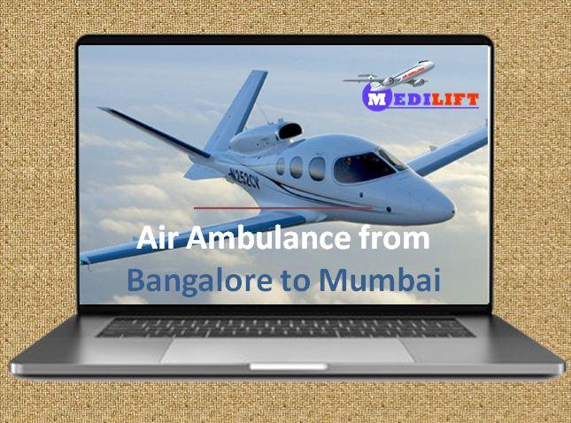 Air Ambulance from Bangalore to Mumbai