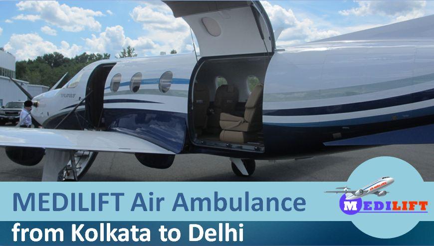 Air Ambulance Kolkata to delhi