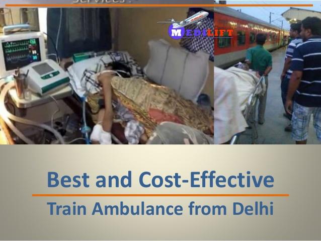 train ambulance in delhi