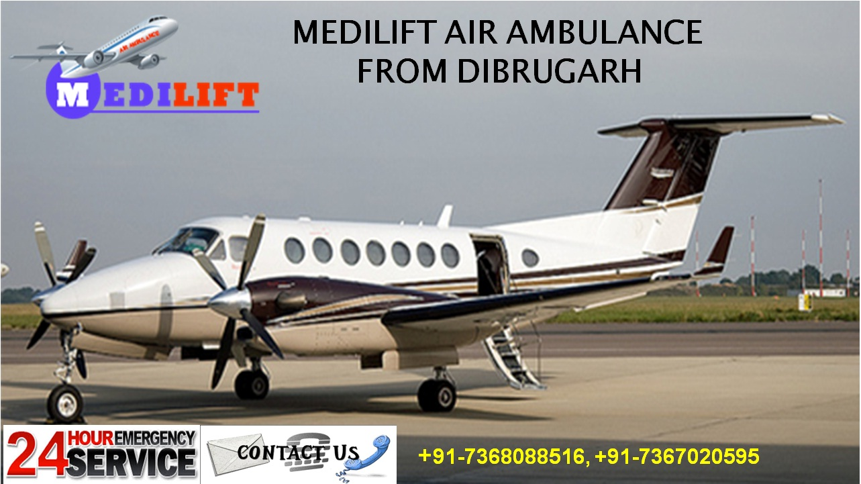 Medilift air ambulance from Dibrugarh (2)