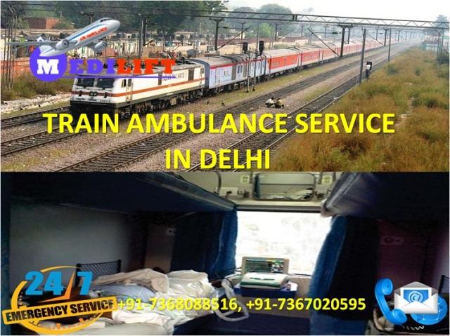 Train Ambulance Service in Delhi