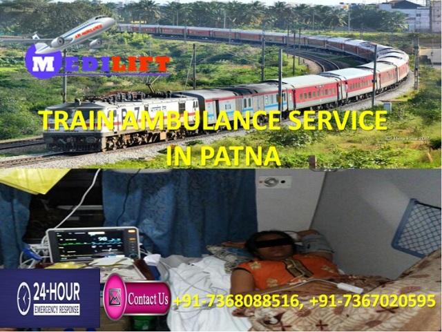 Train Ambulance Service in Patna