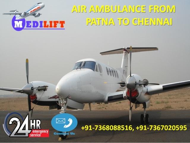 Air Ambulance from Patna to Chennai