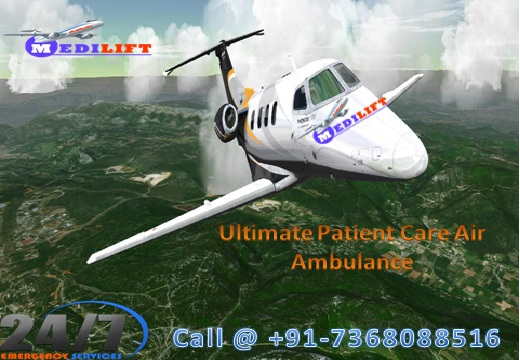 medilift air ambulance service in delhi