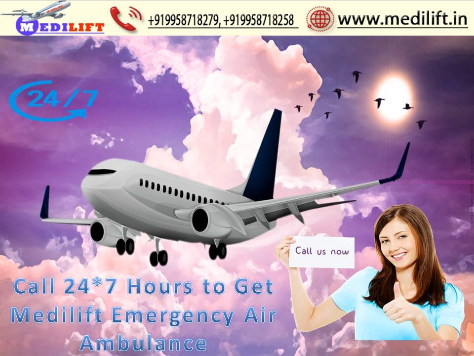 Medilift Air Ambulance in Kolkata